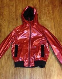 Luke Shiny Red Jacket (true religion stone island)