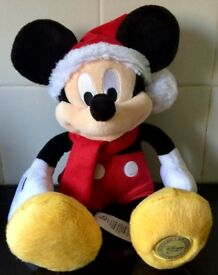 Kids toys – PLUSH Disney Mickey Mouse Christmas – Authentic (LIKE BRAND NEW) (FFSP)