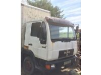 Man 8.163 lorry cab, engine and gearbox - Breaking