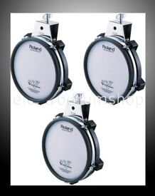 "3 PACK Roland V Drums PD-85 Electronic 8"" TOM / SNARE Dual Trigger Mesh pads UPGRADE pack"