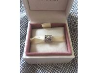 New Four Leaf Clover Flower Silver Charm - European Charm Bracelet - Christmas Gift