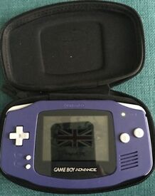 Gameboy Advance in purple