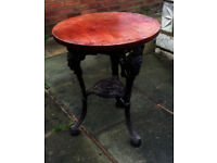 Cast Iron Pub Tables & Stools Wanted - Please!!!