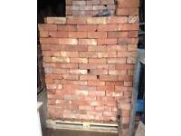 """Reclaim Leicester Orange imperial bricks 9x4.5x3"""" up to 1500 available fire hearth bread oven wall"""