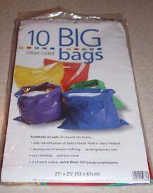 HEAVY DUTY 300 GAUGE COLOURED PLASTIC BAGS