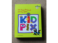KidPix kids computer graphics game for PC and IMB on floppy disks
