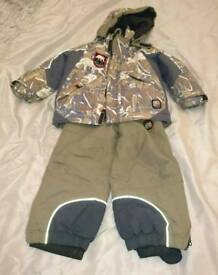 Boys ski/snow suit, age 3-4.