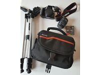 Canon 1100D Camera and Accessories.