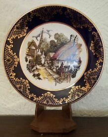 Royal Falcon Ware Gold Gilded Edged Picture Show Plate