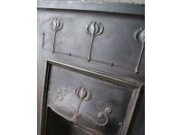 CAST IRON ART NOUVEAU FIREPLACE. FITS IN THE BACK OF SMALL RENAULT CLIO SO COLLECT IT FOR FREE