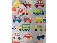 Boys bed throw and pillow
