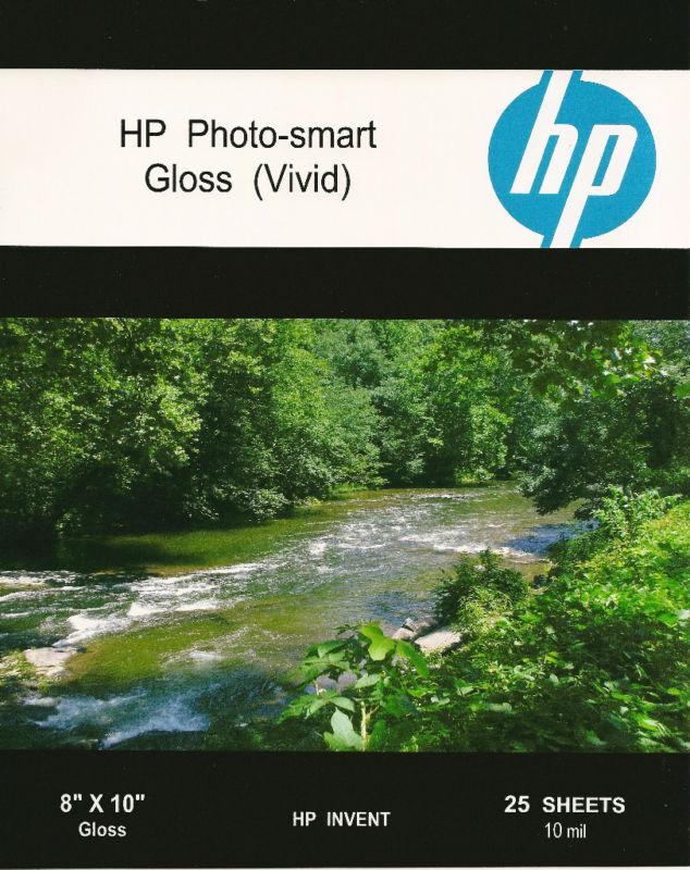 HP Photo-smart Gloss Vivid~8 x 10 Photo Paper~25ct