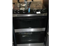 New Zanussi gas cooker ZCG633 in black with warranty and free delivery