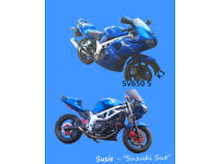 SV650 S K1 Blue - Near Finished Project - Fully Customised (Subtle), Sand Blasted, Painted, Manual +