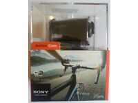Sony Full HD AS30 Action Camcorder with GPS, WiFi, Waterproof case, full 1080P, boxed, like new X 2