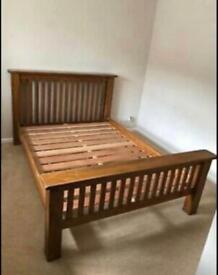 Solid Oak King Size bed frame, can deliver !!