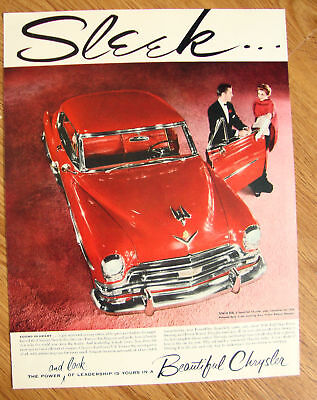 1954 Chrysler New Yorker DeLuxe Newport Ad Torch Red
