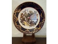 Royal Falcon Ware Gilded Edged Picture Plate