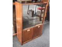 Record/Vinyl/Newspaper Oak Display Cabinet