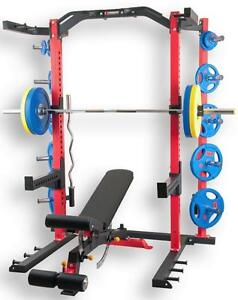 KELOWNA BC Warehouse, Complete Set NEW eSPORT Direct BODYBUILDING POWER ½ Rack
