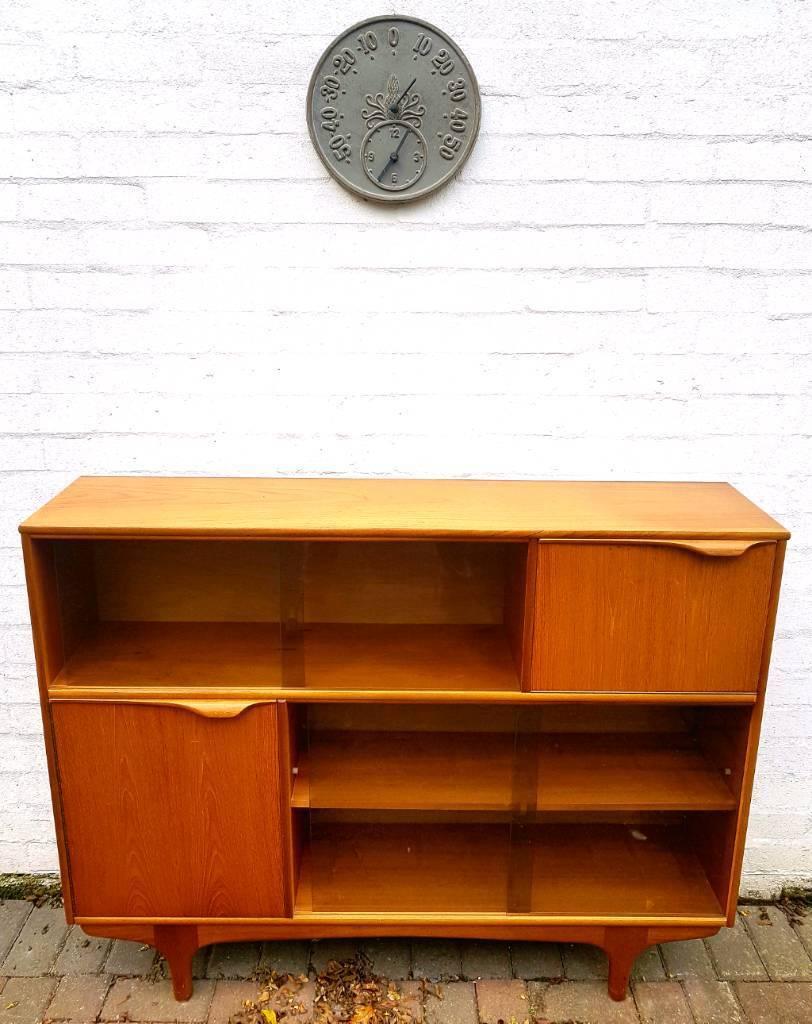 Retro 'Sutcliffe of Todmorden' Teak Sideboard/Cabinet/Bookcase/Cocktail Unit - McIntosh/G Plan