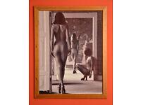 Framed print, B&W, fine art