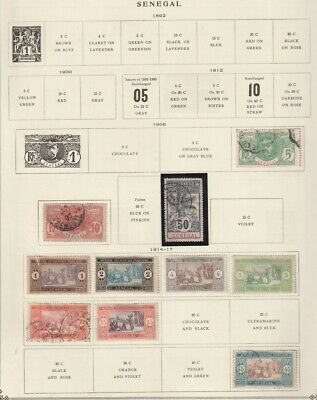 Senegal 1892 - 1941 MH / MNH / Used Collection on Pages CV $120
