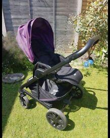 Damson Purple Unisex Joie Travel System Pram Buggy Newborn Baby