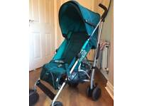 Mamas and Papas Tour 2 Stroller/ Pushchair in Teal with Raincover