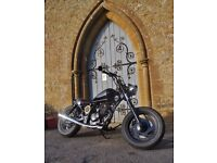 125cc soft tail bobber motorcycle full MoT cool looking ride!