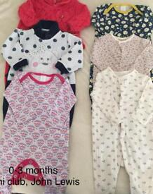 0-3 months baby girl sleeping suits