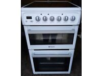 Hotpoint 50cm electric cooker, excellent condition,4 months warranty