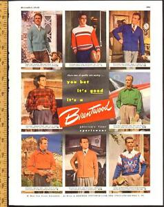 1948 large full-page, color print ad for Brentwood Sportswear