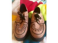 Pink underground creepers shoes size 7