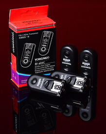 4x YONGNUO wireless flash triggers for Canon (RF-603 C)