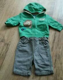 Next baby jean & hoodie set age up to 3 mths