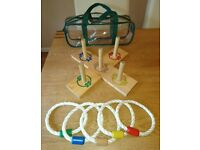 Outdoor / Indoor Games Classic Wooden Ring Toss Game And Carry Case As New Condition
