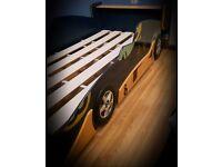 2 single sport's car beds