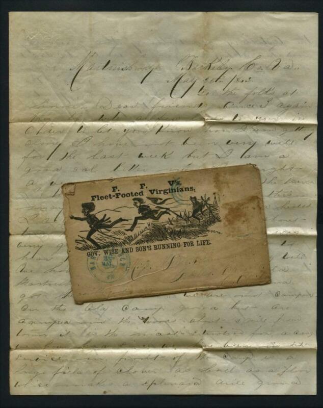 0441----1863 Civil War letter Joseph Foreman 126th Ohio - Cabello Carroll County