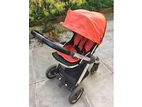 Oyster pushchair & carrycot, footmuff & raincovers