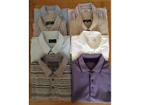 Men's Summer Clothing Bundle 6 Short Sleeve Shirts, 2 T-Shirts Size Medium NEW or As New