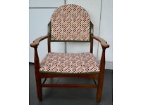 Small Oak Chair - chequered