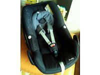 Maxi Cosi Pebble Car Seat fits Quinny Bugaboo Icandy Silvercross Oyster Total black 2013 model