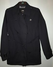 Black Trench Coat Burton Menswear Size S