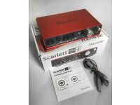 Focusrite Scarlett 2i4 Interface 8 months old
