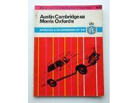 AUSTIN CAMBRIDGE A60 & MORRIS OXFORD VI SERVICE MANUAL