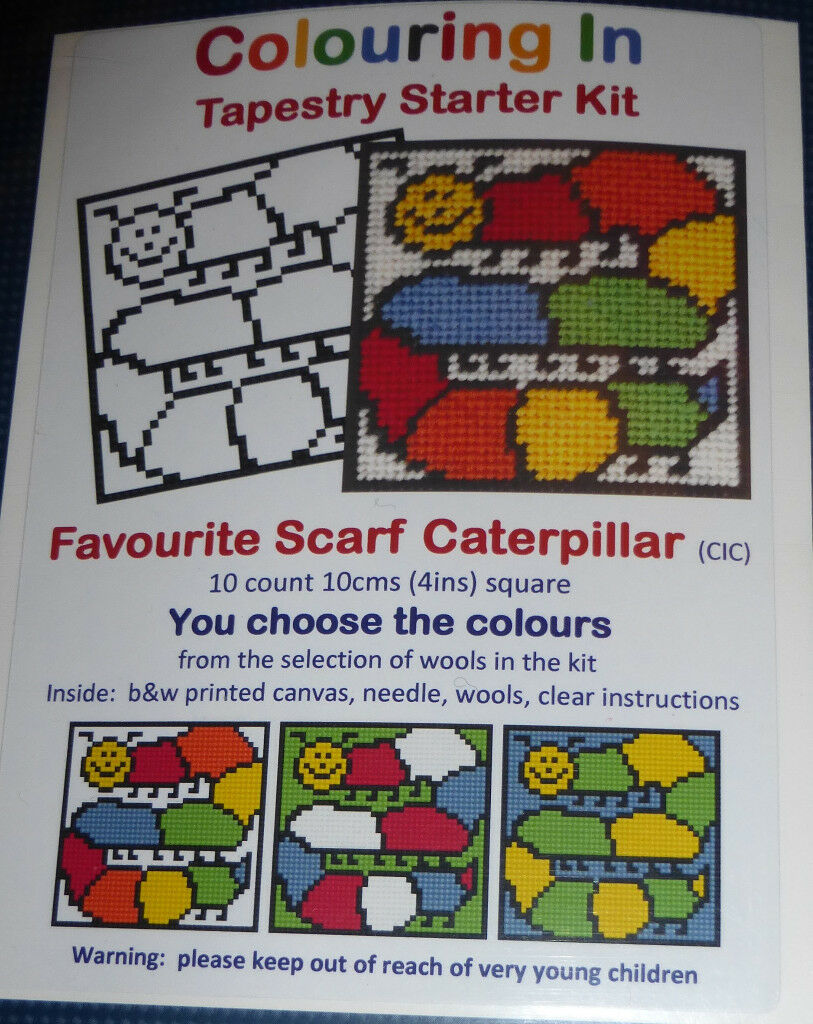 One Off Colouring In Tapestry Starter Kit Scarf Caterpillar (Cross Stitch)