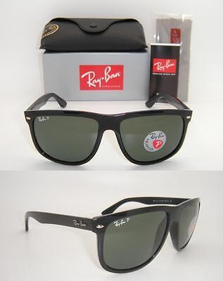 New Authentic Ray-Ban Boyfriend RB 4147 601/58 60mm Black Frame Green Polarized (Ray Ban Rb4147 Polarized)