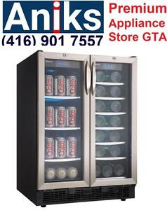 Silhouette DBC2760BLS 24in Built-in French Doors Two Temperature Zones Beverage/ Wine Cooler