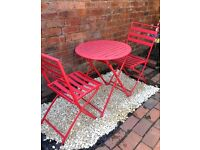 2 seater garden table and chairs